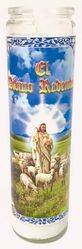 El Divino Redentor Candle - Psalm 23 - (Pack of 6)