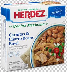 Herdez Carnitas and Charro Beans (Pack of 3)