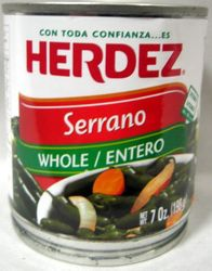 Herdez Serrano Peppers (Pack of 3)