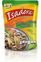 ISADORA Refried Black Beans Pouch  (Pack of 2)