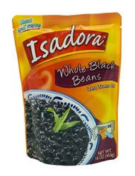 ISADORA Whole Black Beans Pouch (Pack of 3)