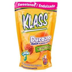 KLASS Peach Durazno Drink Mix-Makes 8.6 Liters