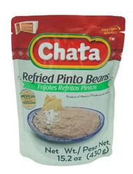 Chata Refried Pinto Beans in Pouch (Pack of 3)