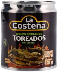 La Costena Fire Roasted Whole Peppers TOREADOS Serranos (3 Pack)