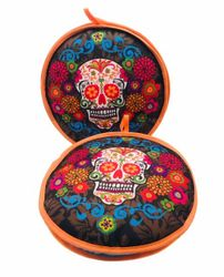 Skull - La Tortilla Oven Fabric Tortilla Warmer - Calavera Colores