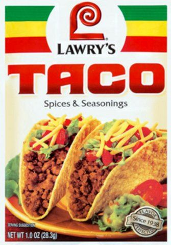 Lawry S Taco Spices And Seasoning Mix 1 Oz Pack Of 3