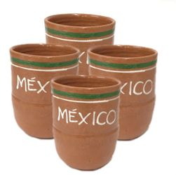 Lead Free Jarritos Mexico Clay Mug Large (Pack of 4)