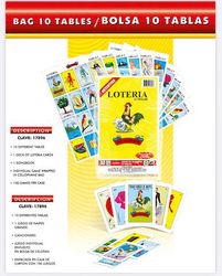 Loteria Don Clemente 10 tablas - Mexican Bingo Game - 10 playing cards