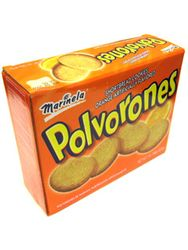 Marinela Polvorones - Shortbread Cookies Orange Flavored