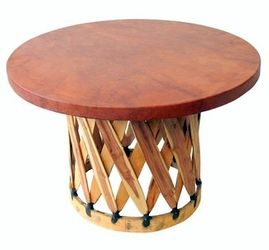 Mesa Equipal Redonda - Round Table for Equipales by La Mexicana
