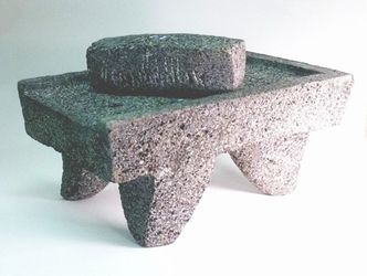 Metate y Mano (Mortar and Pestle)