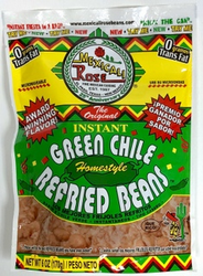 Mexicali Rose Instant Green Chile Refried Beans (Pack of 3)