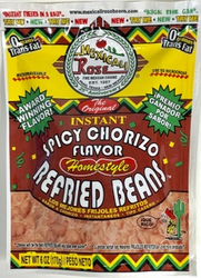 Mexicali Rose Instant Spicy Chorizo Flavor Refried Beans (Pack of3)