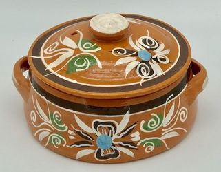 Mexican Clay Pot with Lid Small