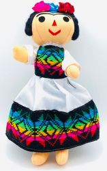 """Mexican Handmade FRIDA  Doll 9.75"""" Assorted Colors"""