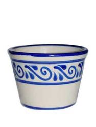 Mexican Pottery - Ceramic Flower Pot from Mexico - Medium
