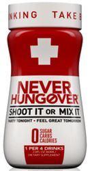 Never Hungover Dietary Supplement Small Bottle (Pack of 12)
