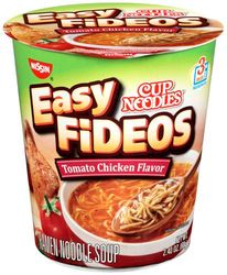 Nissin Cup Noodles Easy Fideos Tomato Chicken Flavor (Pack of 6)