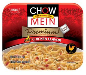 Nissin Original Chow Mein Premium Spicy Chicken Flavor (Pack of 4)