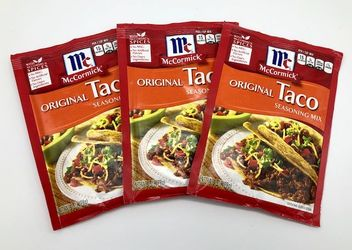 Original Taco Seasoning Mix by McCormick (Pack of 3)