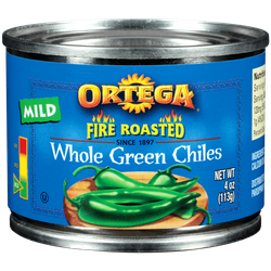 Ortega Whole Green Chiles Fire Roasted Mild (Pack of 3)