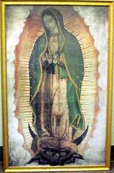 Our Lady of Guadalupe Picture - Golden  Wood Frame