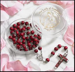 Our Lady of Guadalupe Rosary Rose Petal - Virgin of Guadalupe Rosary