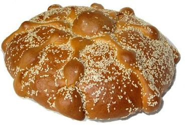 Pan de Muerto con Ajonjoli - Day of the Dead Bread