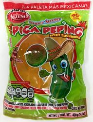 Pica Pepino Paletas - Spicy Cucumber Lollipops Alteno