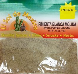 Pimienta Blanca Molida White Pepper Ground By El Sol de Mexico