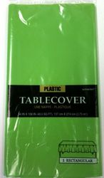 "Plastic Table Cover Kiwi - 54"" x 108"""