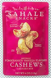 Pomegranate Vanilla Cashews by SAHALE Snacks