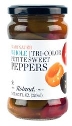 Roland Marinated Petite Sweet Peppers Whole Tri-Color