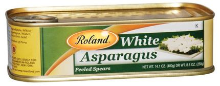 Roland White Asparagus Peeled Spears