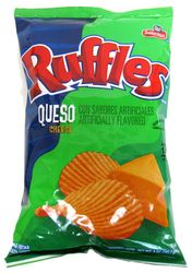 Ruffles Queso Potato Chips by Sabritas (Pack of 3)