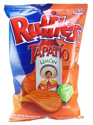 Ruffles Tapatio Limon Flavored Potato Chips (Pack of 3)