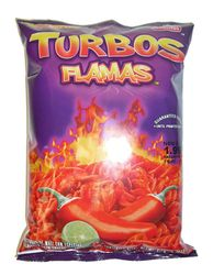 Sabritas Turbos Flamas Flavored Corn Snacks (Pack of 3)
