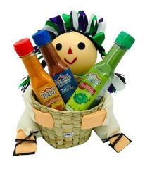 Salsas Castillo Hot Sauce Gift Set with Doll