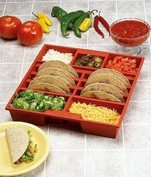 Taco Tray - Holds 6 Tacos and Favorite Toppings