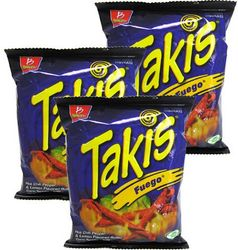 Takis Fuego Hot Chili Pepper & Lime by Barcel (Pack of 6)