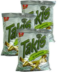 Takis Guacamole Flavored Rolled Tortilla Minis (Pack of 6)