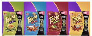 Takis Titan Chipotle and Lime Tortilla Chips by Barcel (Pack of 3) - 4 oz4  oz
