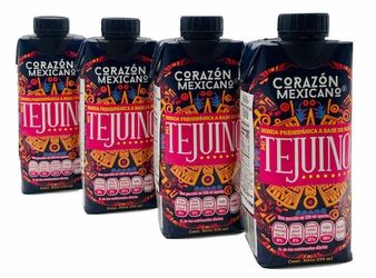 TEJUINO Corazon Mexicano - Natural Drink made from Corn (Pack of 4)