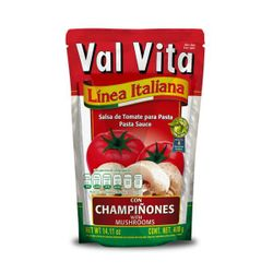 Valvita Tomato Pasta Sauce with Mushrooms Pouch (Pack of 6)
