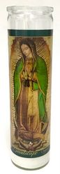 Virgen de Guadalupe Original Image Candle (Pack of 6)