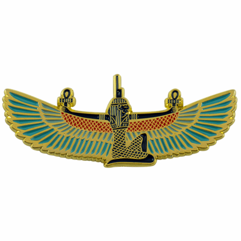 """Ancient Nubia Now """"Winged Isis"""" Enamel Pin"""