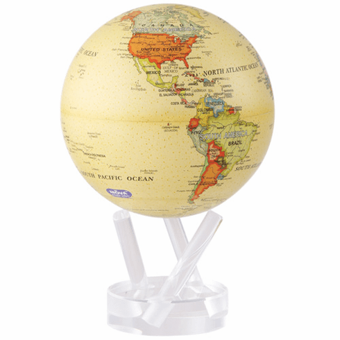 "Antique Map 4.5"" Mova Globe"
