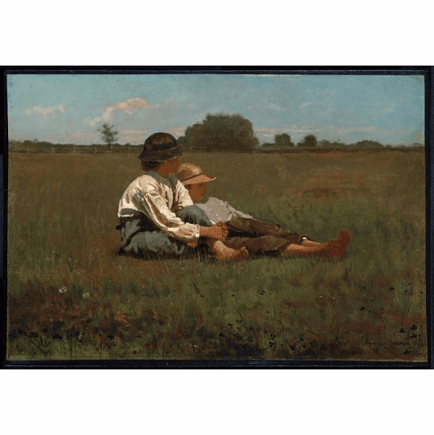 <i>Boys in a Pasture</i><br>11x14  Matted Print