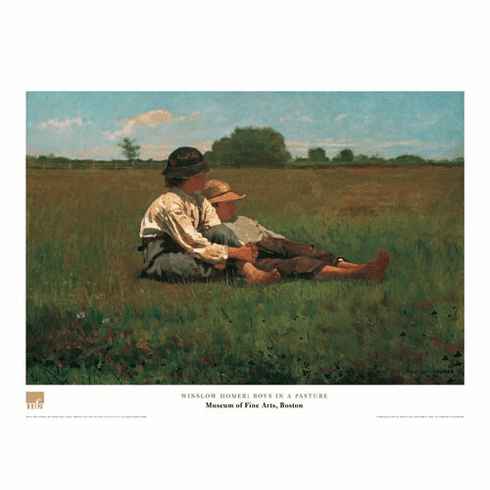 <i>Boys in a Pasture</i>  Poster
