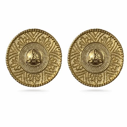 Castellani Granulated Clip Earrings